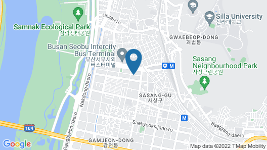 Premium AVA Hotel Sasang Map