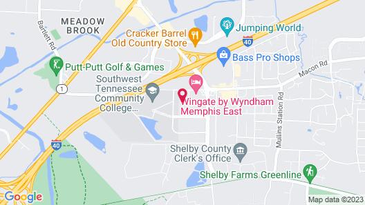 Quality Inn & Suites Memphis East Map