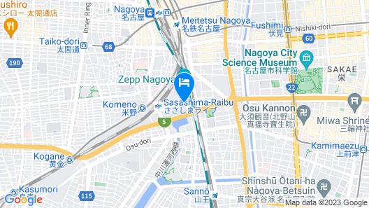 Nagoya Prince Hotel Sky Tower Map