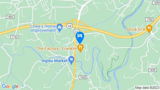 Microtel Inn by Wyndham Franklin Map