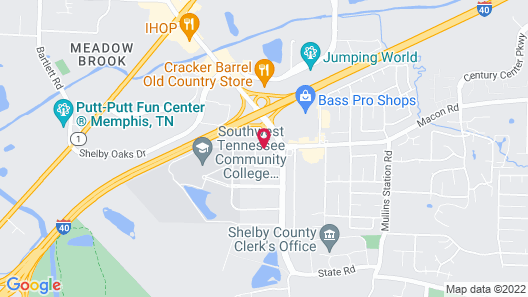 Days Inn by Wyndham Memphis - I40 and Sycamore View Map
