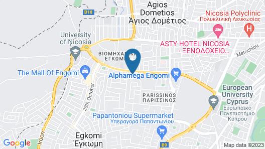 Luxury modern spacious flat in Egkomi Map