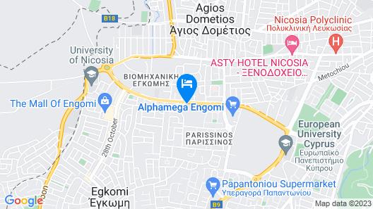 Hilton Nicosia Map