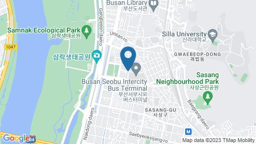 Sasang 2heaven Hotel Map