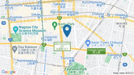Shinsakaemachi apartment (1A, 2A, 2B) Map