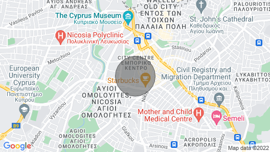 Warm Residence in the Heart of Nicosia City Center - Balcony & View Map