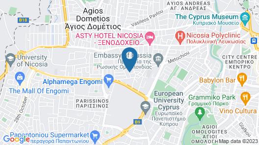 Youthfull Escape in Nicosia Map