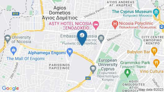 Cozy Getaway in Nicosia Map