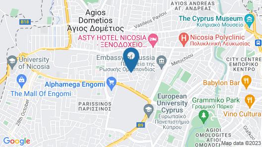 Comfortable Engomi Apartment Map