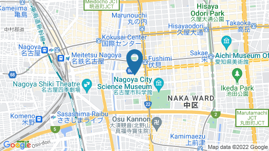 SANCO INN NAGOYA FUSHIMI Map