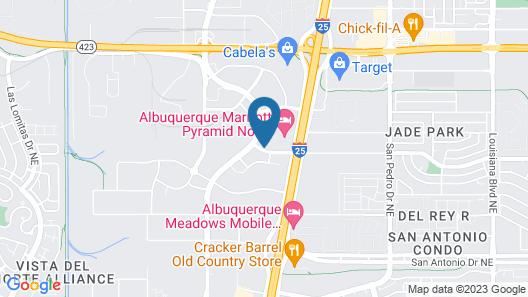 Albuquerque Marriott Pyramid North Map