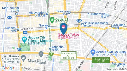 Nagoya Travellers Hostel Map