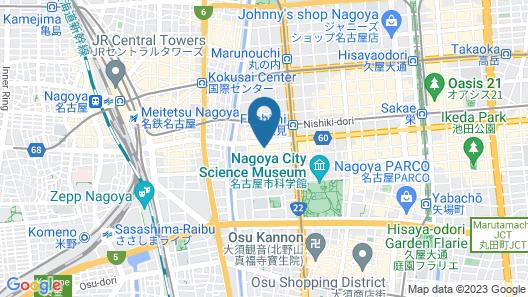 Hilton Nagoya Map