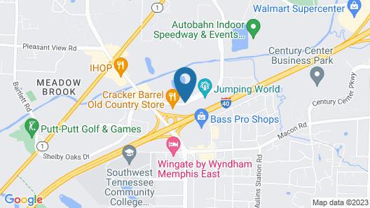 OYO Hotel Memphis TN I-40 Map
