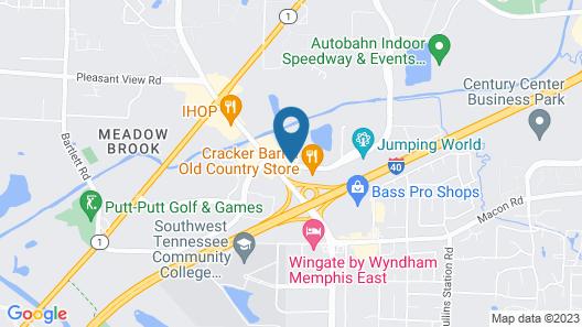 Baymont by Wyndham Memphis East Map