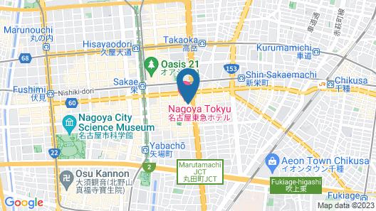 Nagoya Tokyu Hotel Map