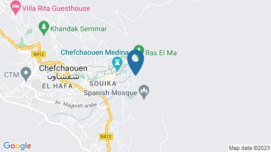 Dar Echchaouen Map