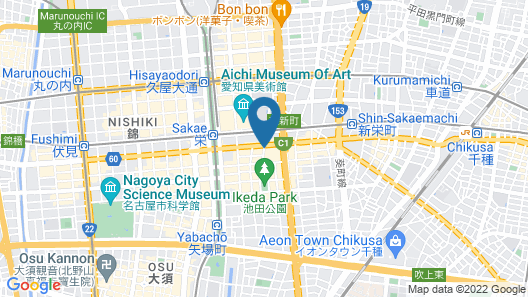 Best Western Hotel Nagoya Map