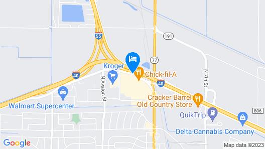 extend a suites West Memphis Map