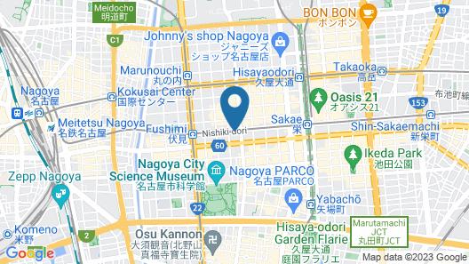 Hotel Silk Tree Nagoya Map