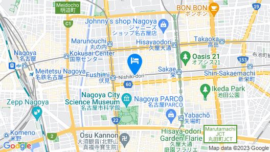 Dormy Inn Premium Nagoya Sakae Natural Hot Spring Map