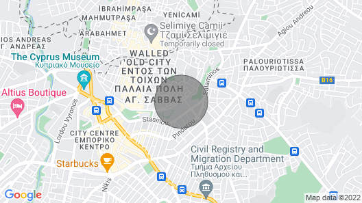4 BDR Renovated Historic House in Downtown Nicosia Map