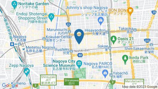 Hotel Trusty Nagoya Map