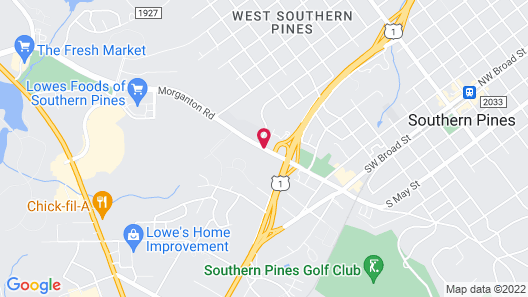 Days Inn & Conf Center by Wyndham Southern Pines Pinehurst Map