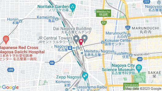 Nagoya Marriott Associa Hotel Map