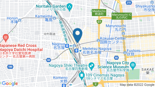 Nagoya Marriott Associa Hotel Map