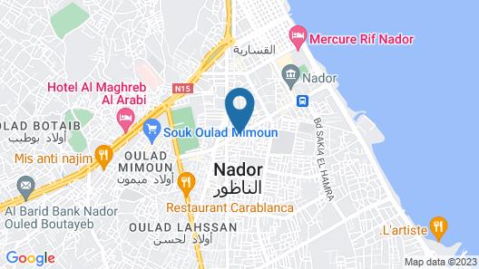 Hotel lixus nador Map