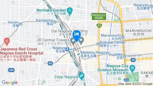 Nagoya JR Gate Tower Hotel Map