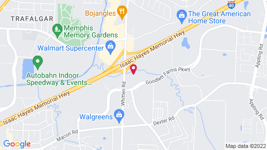 Candlewood Suites Memphis East, an IHG Hotel Map