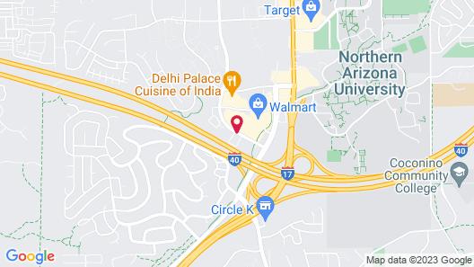Motel 6 Flagstaff, AZ - West - Woodland Village Map