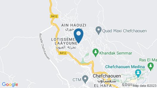 Ryad A&B Chaouen Map