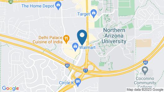 Hampton Inn & Suites Flagstaff Map