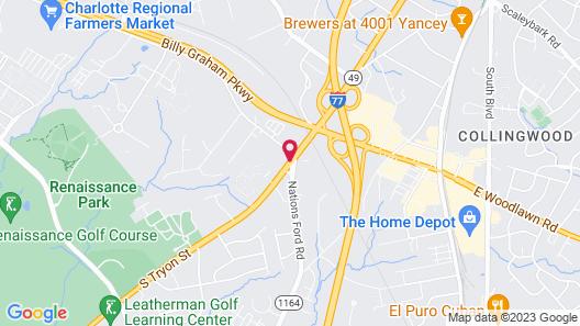 HYATT house Charlotte Airport Map