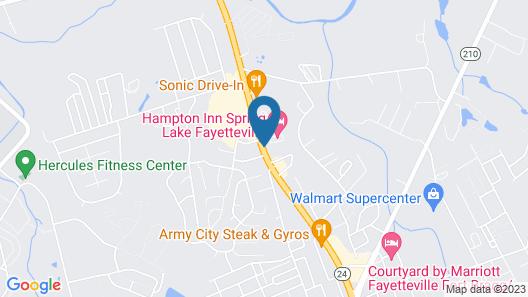 Hampton Inn Spring Lake Fayetteville Map