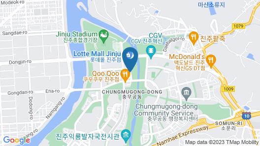 Brown Dot Hotel Jinju Chungmugong Map
