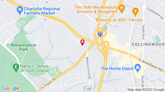 Sleep Inn Airport - Billy Graham Parkway Map