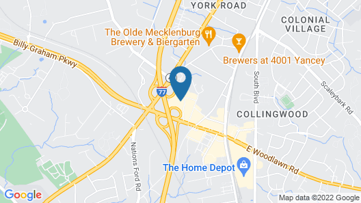 Radisson Hotel Charlotte Airport Map