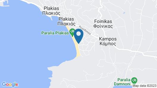Plakias Resorts Map