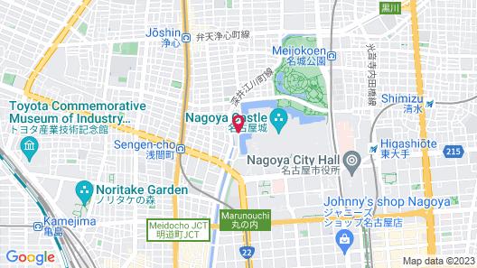 Hotel Nagoya Castle Map