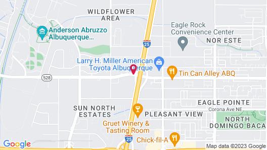 Quality Inn & Suites Albuquerque North near Balloon Fiesta Park Map