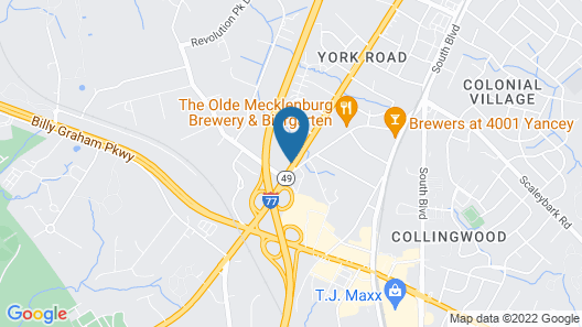 Econo Lodge Airport near Billy Graham Parkway Map