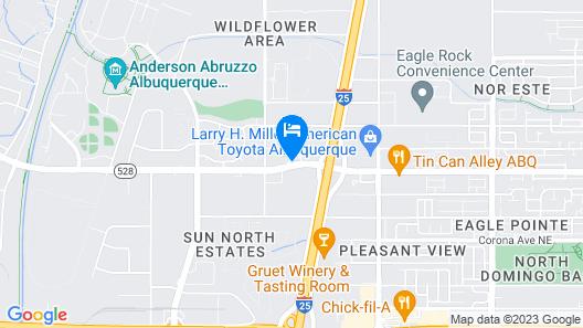 Holiday Inn Express - Balloon Fiesta Park Map