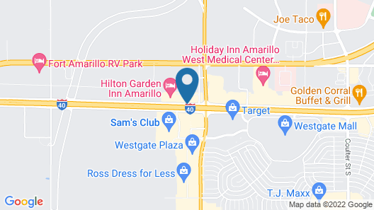 Hilton Garden Inn Amarillo Map