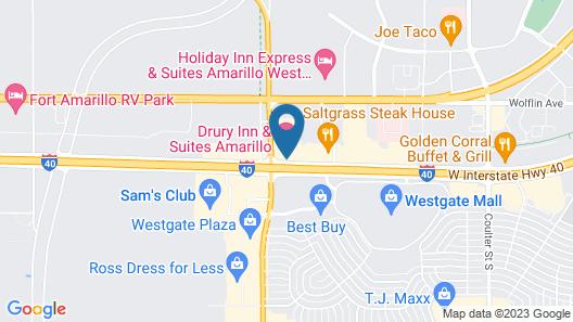 Drury Inn & Suites Amarillo Map