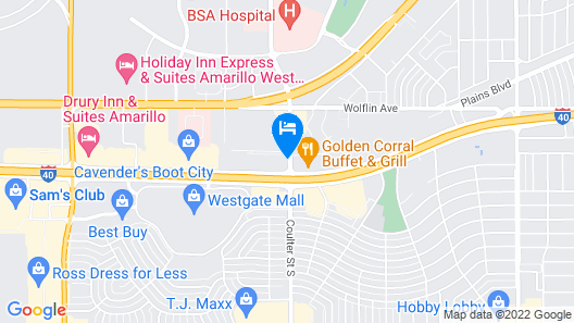 Days Inn by Wyndham Amarillo - Medical Center Map