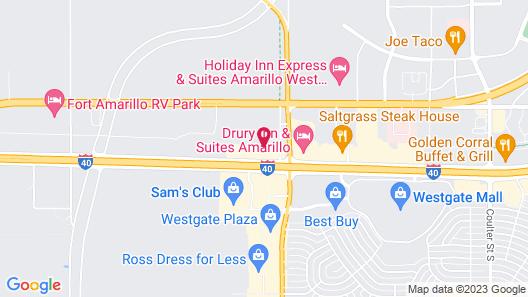 Comfort Inn And Suites Amarillo Map